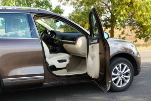 modern car with doors open - warrantless entry victory in the california supreme court
